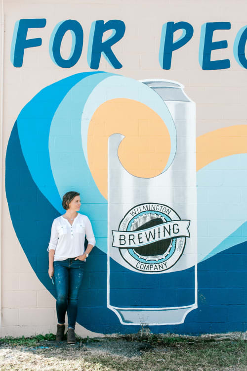 Murals by Ella Creates seen at 824 S Kerr Ave, Wilmington - Wilmington Brewing Company Mural