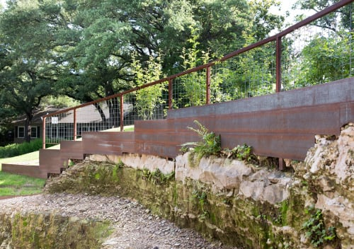 Hardware by Brian Chilton Design at Client Residence - Austin, Texas, Austin - Custom Metal Landscape Wall