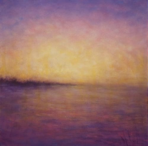Paintings by Victoria Veedell seen at Private Residence - Pink Sky Evening, oil on canvas