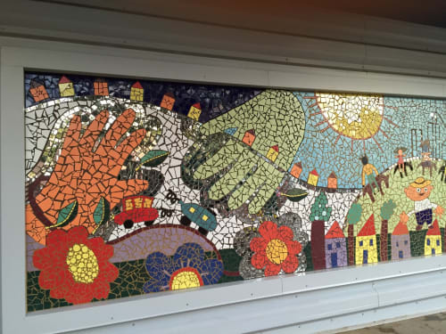 Public Mosaics by Juan-Carlos Perez seen at Christopher House, Chicago - Primary Adventures