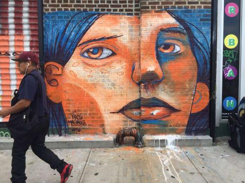 Street Murals by MAG MAGRELA seen at Brooklyn, Brooklyn - DÁ A CARA A TAPA