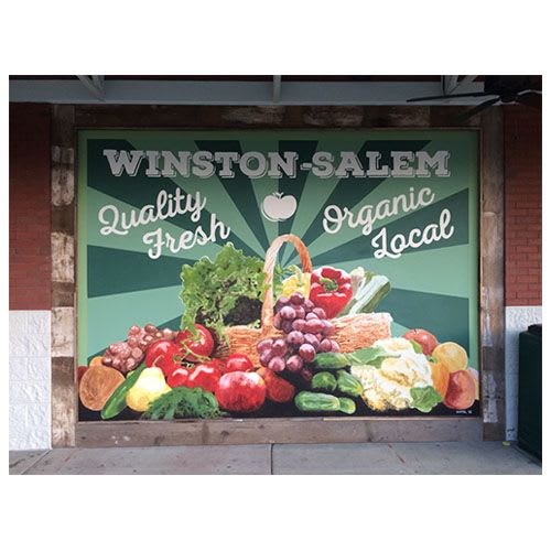 Murals by Alison Hamil Art seen at Whole Foods Market, Winston-Salem - Whole Foods Mural