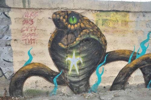 Street Murals by Bayawak seen at Pasong Santol, Imus - Cottonfruit Cobra