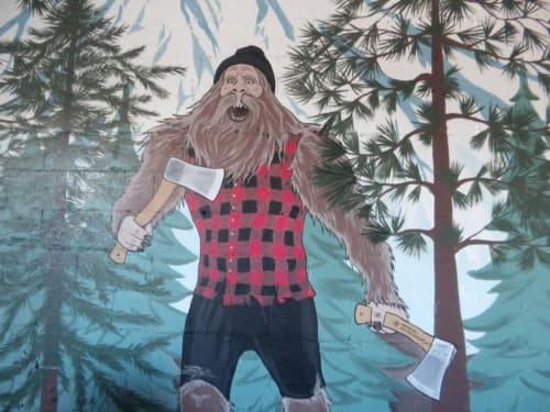 Murals by Art by Tamara Hergert seen at 10843 1st Ave S, Seattle - Axekickers mural