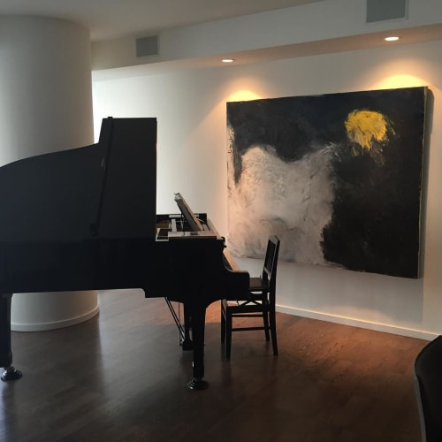 Paintings by Natalie Reynolds Contemporary Art at Private Residence, Vancouver - Night Rushes In