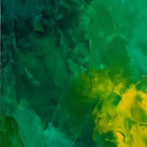 Paintings by sorayart - sorayacaballero seen at Private Residence, Mexico City - Green
