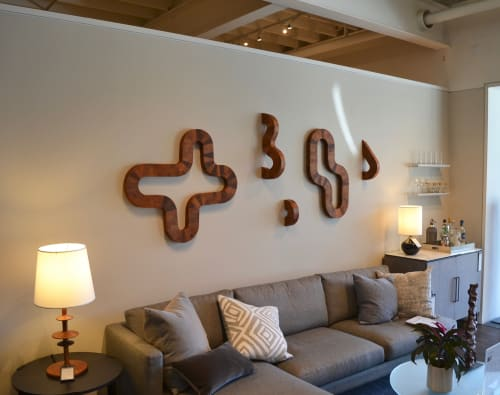 Wall Hangings by Lutz Hornischer - Sculptures & Wood Art seen at Room & Board, San Francisco - Wall Art Installation