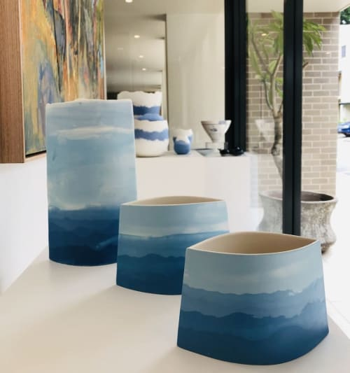 Vases & Vessels by Gillian Hodes seen at Rochfort Gallery, North Sydney - Porcelain Ceramics