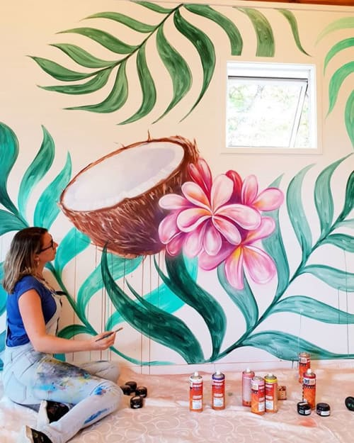 Murals by Erika  Pearce seen at The Acai Shack, Kerikeri - The Acai Shack Kerikeri New Zealand