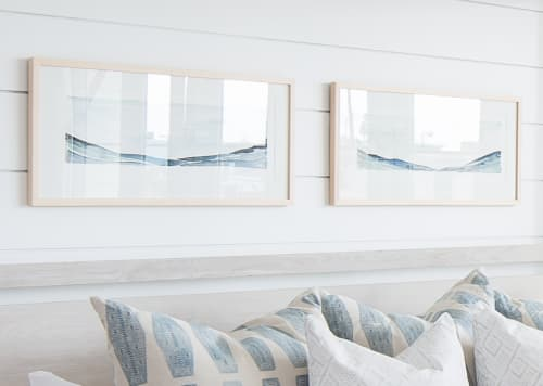 Paintings by Martha Oakes seen at Lido Hotel, Huntington Park - Framed Sea Land Sky Prints for Brooke Wagner Interiors