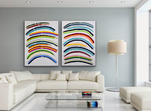 Paintings by Astrid Stoeppel seen at Private Residence, Weilheim in Oberbayern - Colors and Colors #2