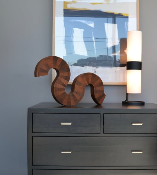 Sculptures by Lutz Hornischer seen at Private Residence, San Francisco - Table Top Sculpture - Curled Up