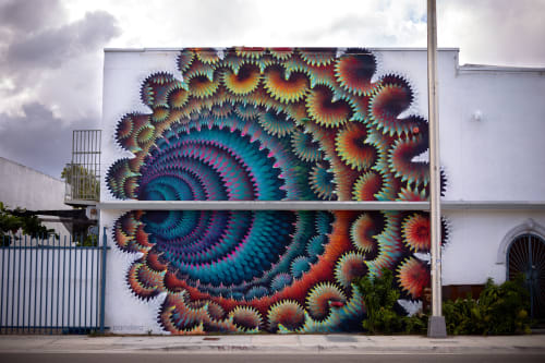 Street Murals by HOXXOH seen at Miami, Miami - Pandora