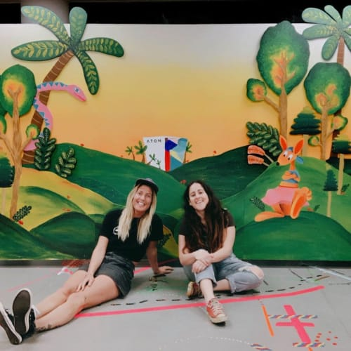 Murals by Nikki Renwick aka Namiko Native Design seen at HOTA, Home of the Arts, Surfers Paradise - HOTA Mural