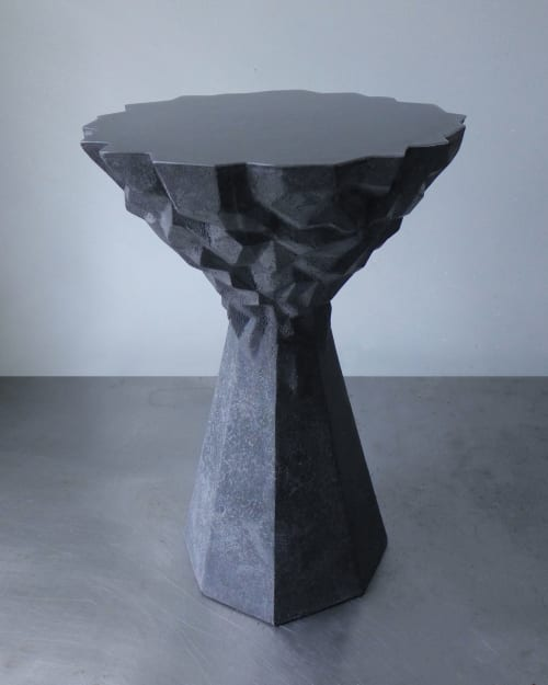 Furniture by STEFAN HEPNER / STUDIO seen at Private Residence, Brooklyn - 'Karbonara' stool/side table