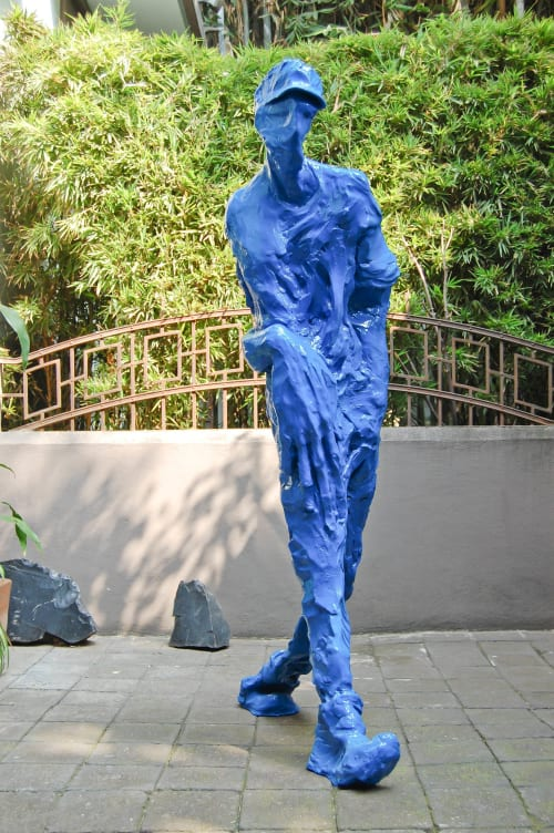 Art Curation by INCIPIO MODO seen at Private Residence, La Condesa, Mexico City - Azul