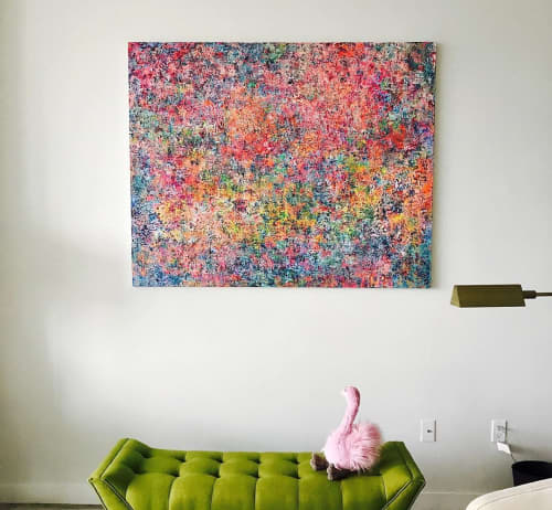 Paintings by Ariel Gold seen at Private Residence, Miami Beach - Bubblegum & Lemonade