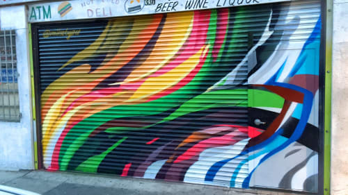 Murals by Mike Bam Tyau seen at 330 5th St, San Francisco - Harveyʻs Place