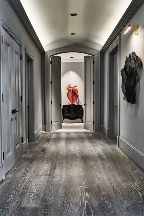 Tiles by Castle Bespoke Flooring seen at Private Residence, Portland - Castle Grande Raw from Castle Bespoke Country Club Collection in custom finish