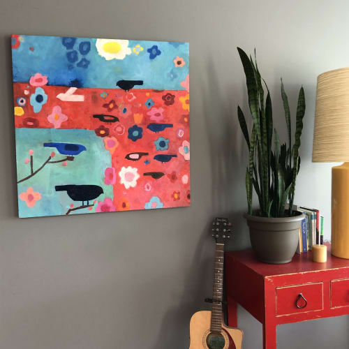 Paintings by Lucy Schappy seen at Private Residence, Courtenay - MAY FLOWERS