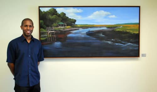Paintings by Keith Doles seen at Baptist Medical Center South, Jacksonville - Quiet Time