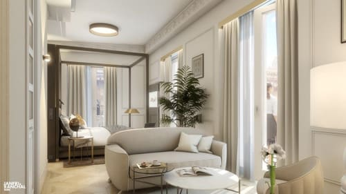 Interior Design by Ramos+Bassols seen at Private Residence, Valencia - Suite Hotel Palacio Vallier