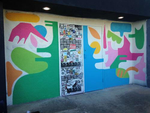 Street Murals by Holey Kids seen at Tulsa, Tulsa - Habit Fest 2019