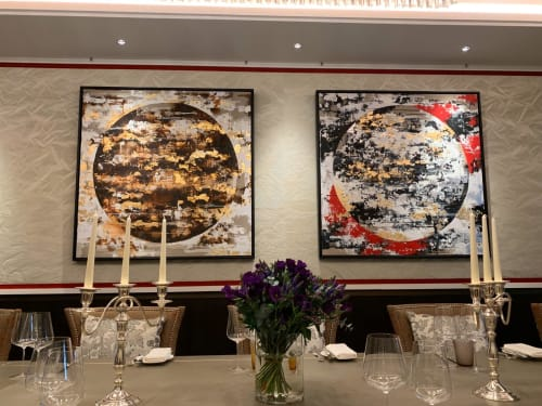 Art Curation by Chelsea Davine Artist seen at The Biltmore Mayfair, LXR Hotels & Resorts, London - Main commission at the Hotel Biltmore Hotel, Mayfair, London