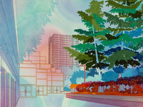 Paintings by Elizabeth Gahan seen at Linda Hodges Gallery, Seattle - Freeway Park