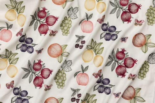 Curtains & Drapes by Coral & Tusk seen at Private Residence, Brooklyn - Spring Fruits Fabric