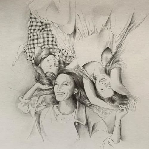 Family Portrait   Paintings by Nettie Wakefield