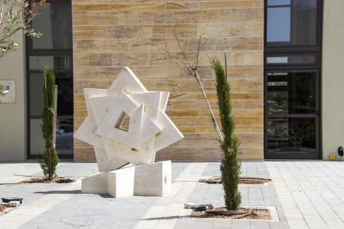 Public Sculptures by Nils Hansen | Sculpture & New Media Art seen at Ma'alot-Tarshiha, Ma'alot-Tarshiha - The Star of Liberty at the new Synagogue in Ma'alot, Israel