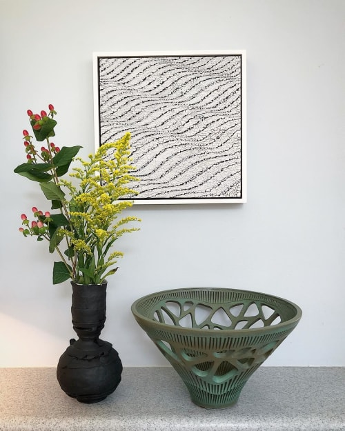 Vases & Vessels by Justin Donofrio seen at Private Residence, Charlotte - Black Vase