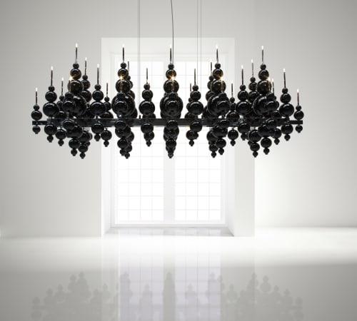 Chandeliers by ILFARI seen at Private Residence, Beek en Donk - Tears from Moon lighting
