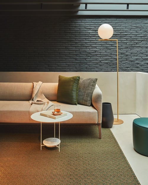 Interior Design by VERDI seen at SCHALLER, Bogotá - Fique & Copper Rug