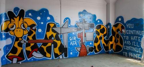 Murals by Steven Free aka Girafa seen at San Jose, San Jose - Mural