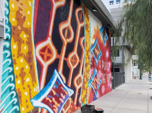Murals by Jerry Misko seen at Art District Apartments, Las Vegas - Wall Mural