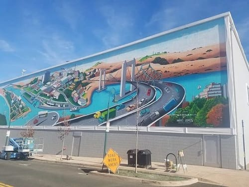 Street Murals by Bay Area Mural Program seen at Vallejo, Vallejo - Gateway to Vallejo