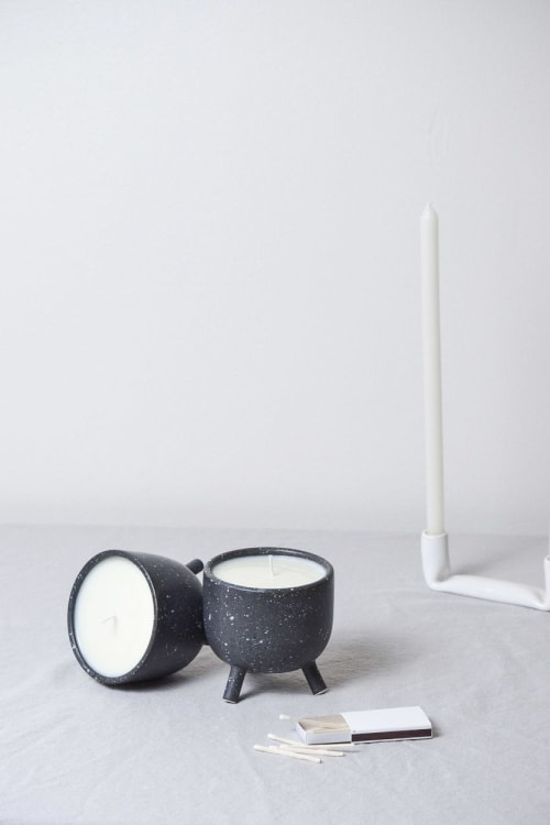 Lighting by Stone + Sparrow seen at Private Residence, Pittsburgh - Granite Candles