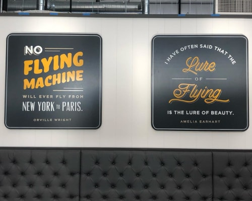 Art & Wall Decor by Look Signs by Chris McNeil seen at The Hangar, Long Beach - Hand-painted Lettering