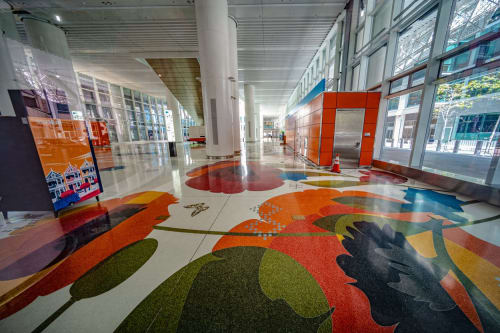 Terrazzo Floor Design Of The Grand Hall By Julie W Chang