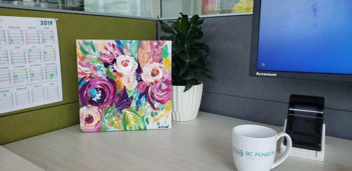 """Paintings by Nikol Wikman seen at Victoria, Victoria - """"Blooming Like Crazy"""" Painting"""
