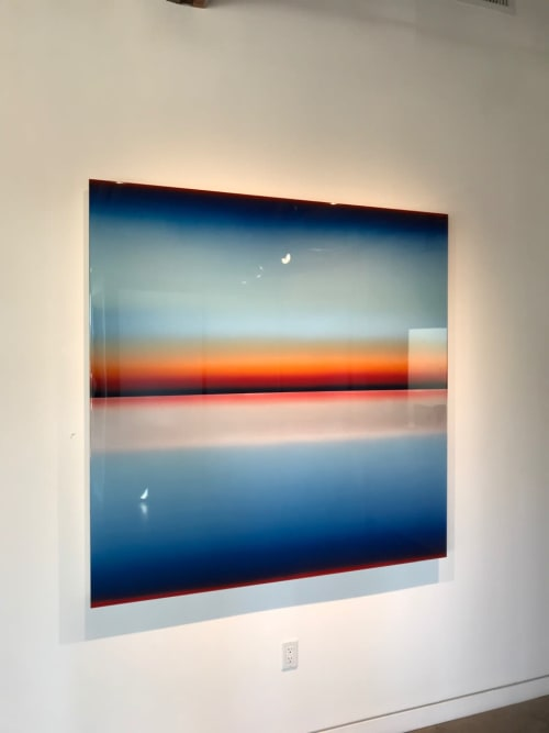 Paintings by Casper Brindle Art seen at William Turner Gallery, Santa Monica - Light and Space Installation