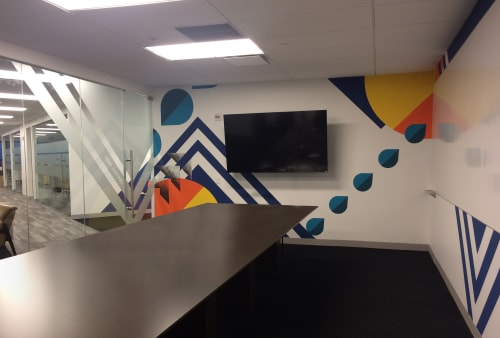 Murals by LAMKAT seen at Behalf Inc., New York - Main Conference Room Mural
