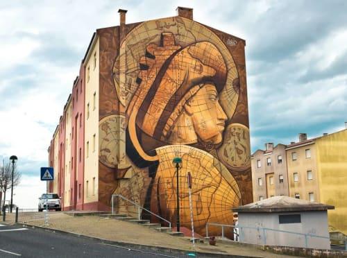 Street Murals by Nomen seen at Estrada de Talaíde, Porto Salvo - Mural