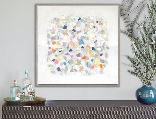 Paintings by Linnea Heide contemporary fine art seen at Private Residence, New York - 'MOSAiC' original abstract painting by Linnea Heide