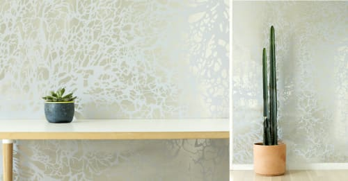 Wallpaper by Jill Malek Wallpaper at New York , NY Private Residence, New York - Grecian Wallcovering Collection