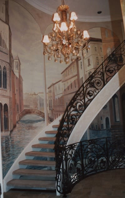 Murals by ARTSIDE MURALS seen at Private Residence, Mississauga - Venice mural