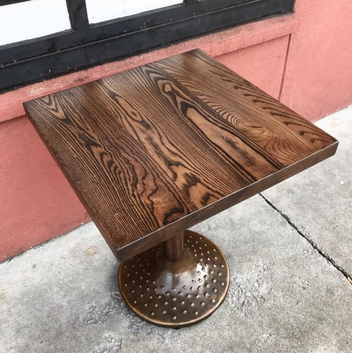Tables by Scurfield WoodWorks seen at Universal Joint, Decatur - Tabletop