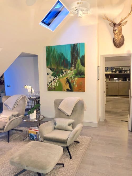 Paintings by Patricia Busso seen at Private Residence - secret garden